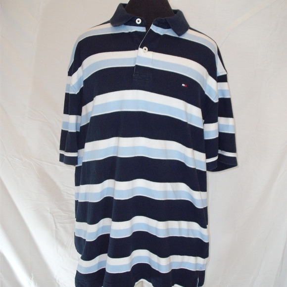 Tommy Hilfiger Other - Tommy Hilfiger Striped S/S Polo Shirt Size XL